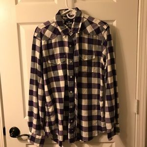 Express Button Down Shirt, Purple and Grey
